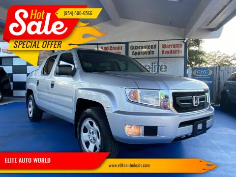 2010 Honda Ridgeline for sale at ELITE AUTO WORLD in Fort Lauderdale FL