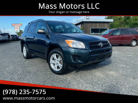 2012 Toyota RAV4 for sale at Mass Motors LLC in Worcester MA