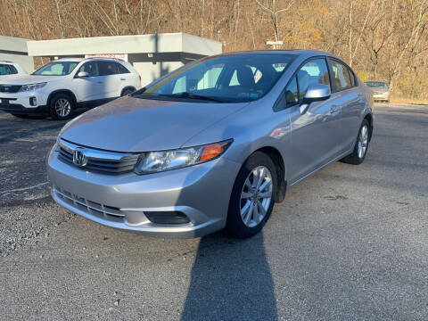 2012 Honda Civic for sale at B & P Motors LTD in Glenshaw PA