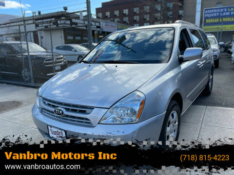 2010 Kia Sedona for sale at Vanbro Motors Inc in Staten Island NY