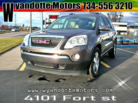 2011 GMC Acadia for sale at Wyandotte Motors in Wyandotte MI