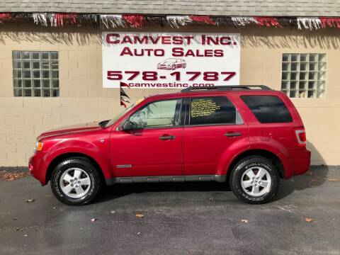 2008 Ford Escape for sale at Camvest Inc. Auto Sales in Depew NY