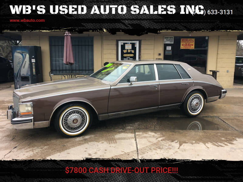 1984 Cadillac Seville for sale at WB'S USED AUTO SALES INC in Houston TX
