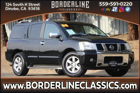 2004 Nissan Armada for sale at Borderline Classics in Dinuba CA