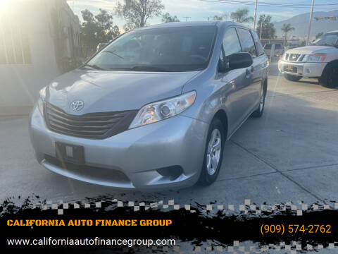2011 Toyota Sienna for sale at CALIFORNIA AUTO FINANCE GROUP in Fontana CA
