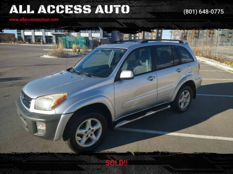 2003 Toyota RAV4 for sale at ALL ACCESS AUTO in Murray UT