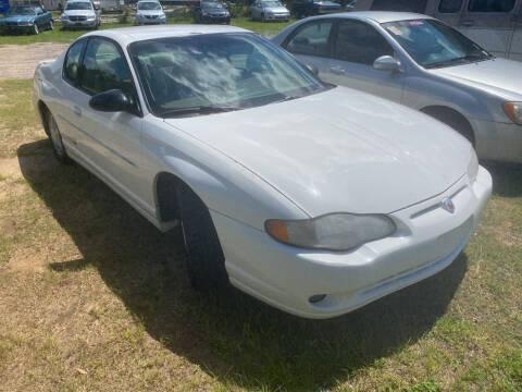 2001 Chevrolet Monte Carlo for sale at Nash's Auto Sales Used Car Dealer in Milton FL