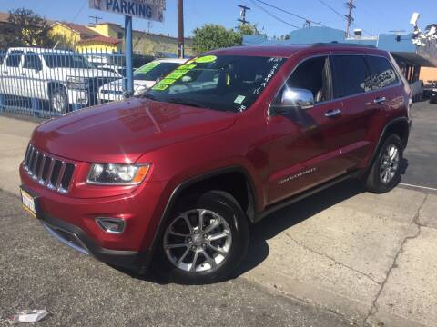 2015 Jeep Grand Cherokee for sale at 2955 FIRESTONE BLVD in South Gate CA