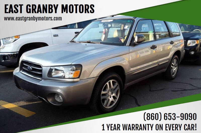 2005 Subaru Forester for sale at EAST GRANBY MOTORS in East Granby CT