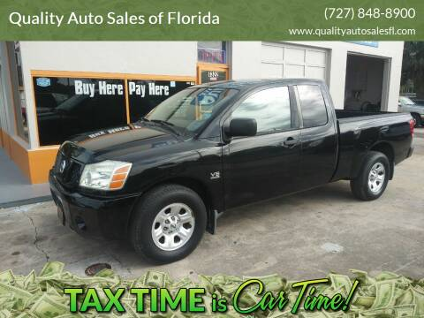 2004 Nissan Titan for sale at QUALITY AUTO SALES OF FLORIDA in New Port Richey FL