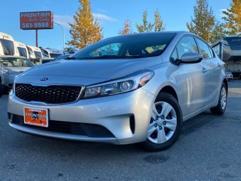2018 Kia Forte for sale at Frontier Auto & RV Sales in Anchorage AK
