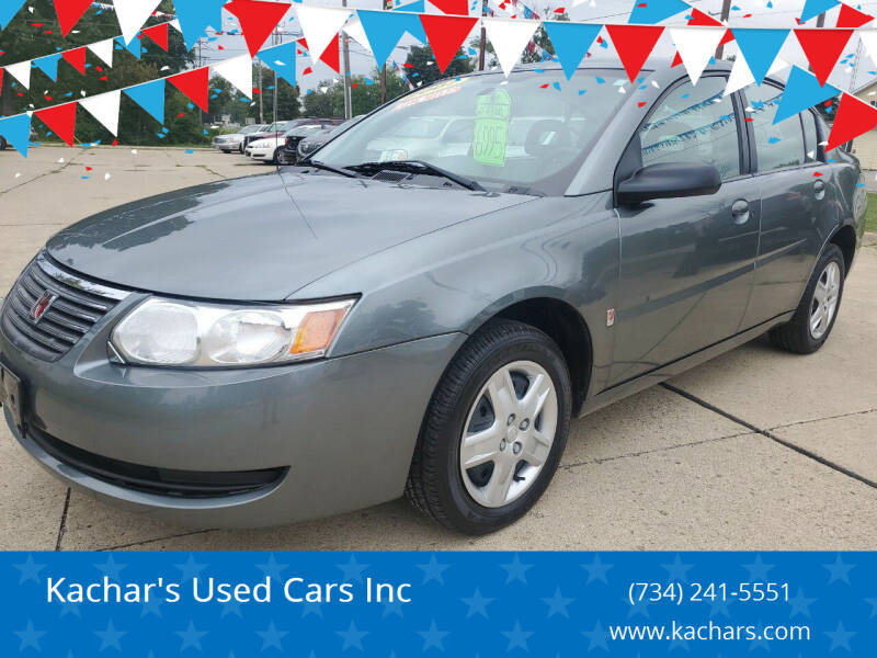 2007 Saturn Ion for sale at Kachar's Used Cars Inc in Monroe MI