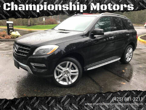 2014 Mercedes-Benz M-Class for sale at Championship Motors in Redmond WA