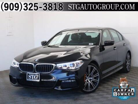 2018 BMW 5 Series for sale at STG Auto Group in Montclair CA