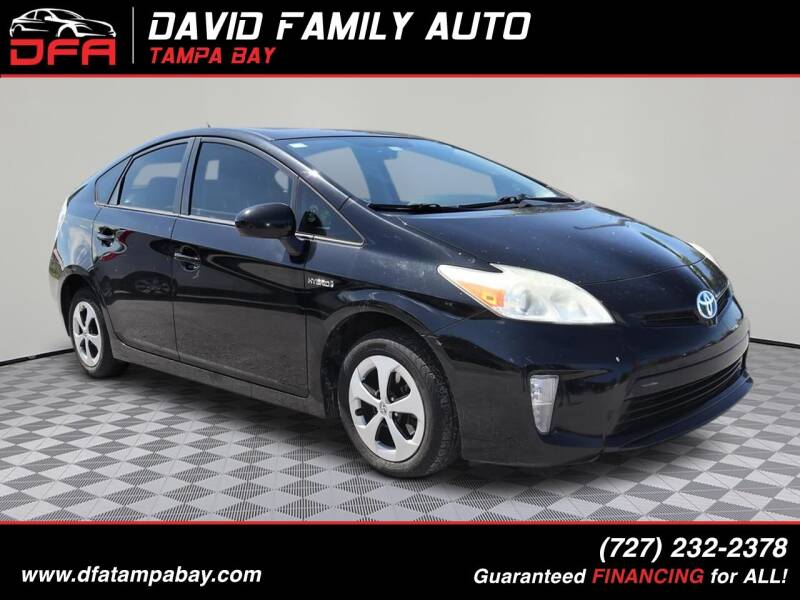 2013 Toyota Prius for sale at David Family Auto in New Port Richey FL