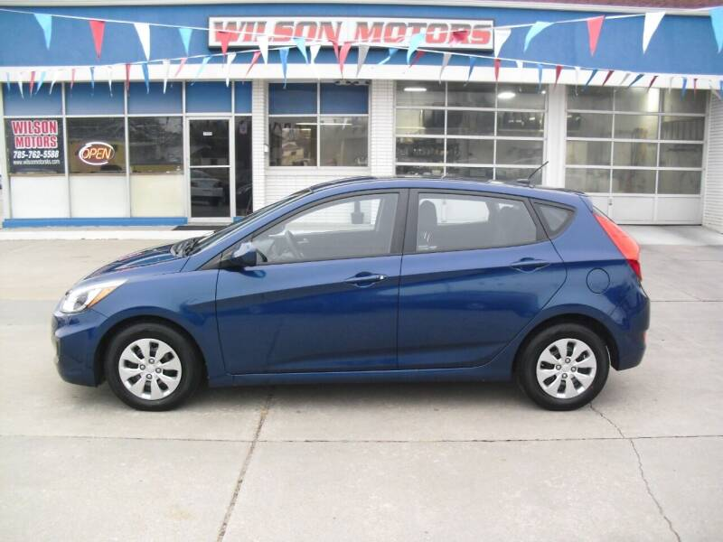 2016 Hyundai Accent for sale at Wilson Motors in Junction City KS