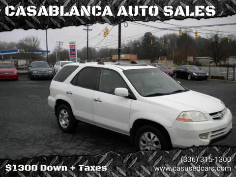 2003 Acura MDX for sale at CASABLANCA AUTO SALES in Greensboro NC