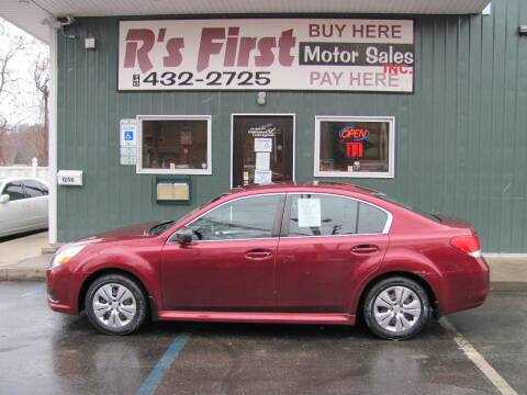 2011 Subaru Legacy for sale at R's First Motor Sales Inc in Cambridge OH