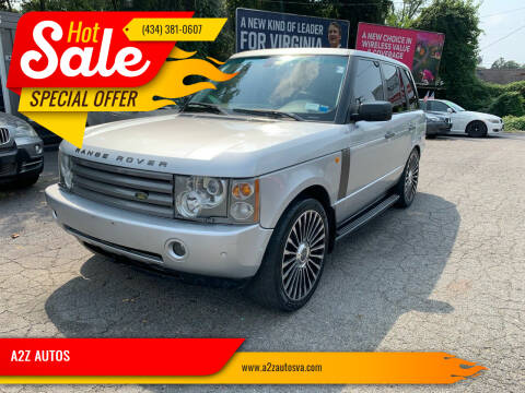 2005 Land Rover Range Rover for sale at A2Z AUTOS in Charlottesville VA