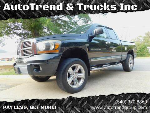 2006 Dodge Ram Pickup 1500 for sale at AutoTrend & Trucks Inc in Fredericksburg VA