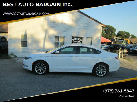 2015 Chrysler 200 for sale at BEST AUTO BARGAIN inc. in Lowell MA