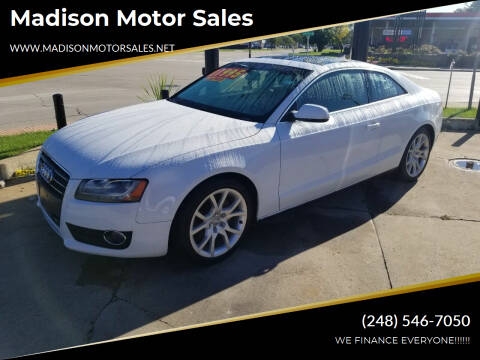 2012 Audi A5 for sale at Madison Motor Sales in Madison Heights MI