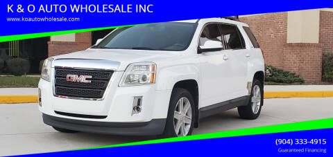 2010 GMC Terrain for sale at K & O AUTO WHOLESALE INC in Jacksonville FL