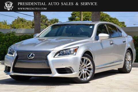 2016 Lexus LS 460 for sale at Presidential Auto  Sales & Service in Delray Beach FL