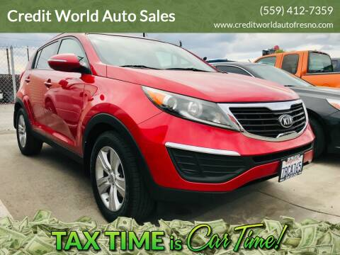 2013 Kia Sportage for sale at Credit World Auto Sales in Fresno CA