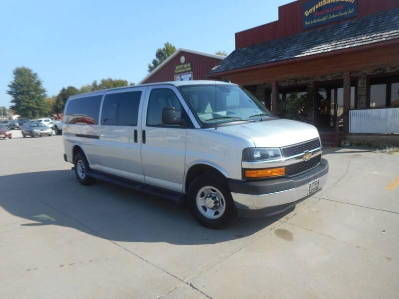 2019 Chevrolet Express Passenger for sale at Boyett Sales & Service in Holton KS