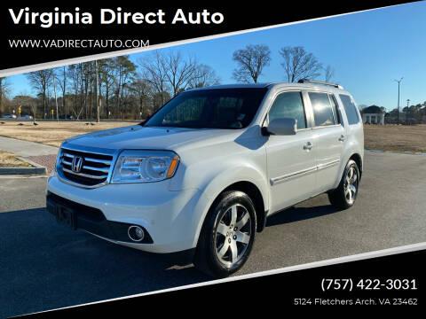 2012 Honda Pilot for sale at Virginia Direct Auto in Virginia Beach VA