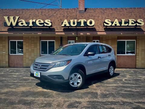 2014 Honda CR-V for sale at Wares Auto Sales INC in Traverse City MI
