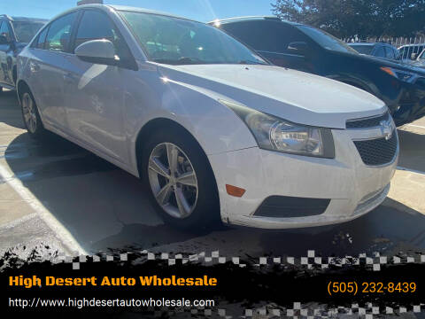 2013 Chevrolet Cruze for sale at High Desert Auto Wholesale in Albuquerque NM