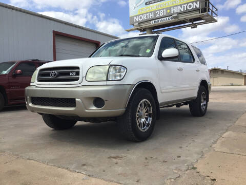 2004 Toyota Sequoia for sale at 4 B CAR CORNER in Anadarko OK