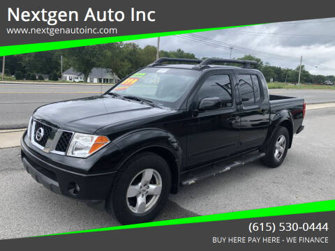 2006 Nissan Frontier for sale at Nextgen Auto Inc in Smithville TN