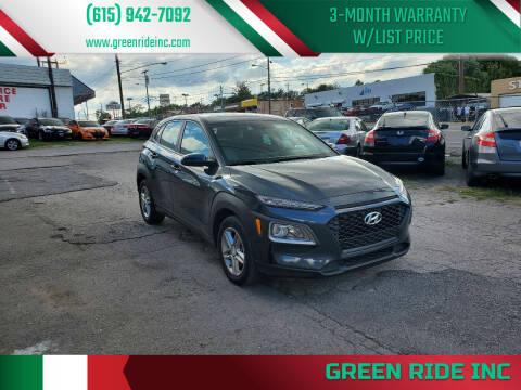 2018 Hyundai Kona for sale at Green Ride Inc in Nashville TN