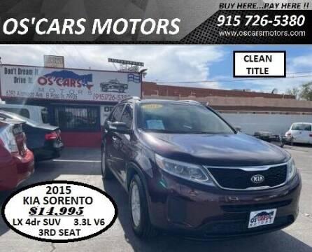 2015 Kia Sorento for sale at Os'Cars Motors in El Paso TX
