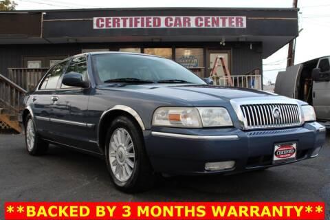 2008 Mercury Grand Marquis for sale at CERTIFIED CAR CENTER in Fairfax VA