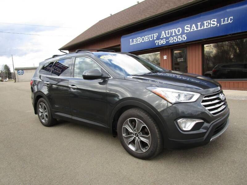 2013 Hyundai Santa Fe for sale at LeBoeuf Auto Sales in Waterford PA