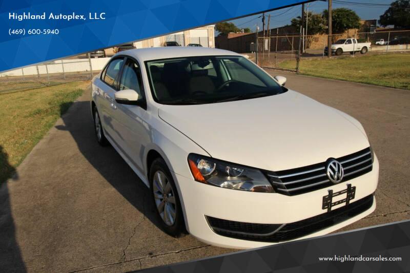 2012 Volkswagen Passat for sale at Highland Autoplex, LLC in Dallas TX