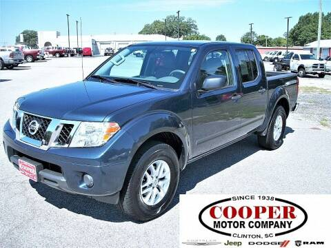 2019 Nissan Frontier for sale at Cooper Motor Company in Clinton SC