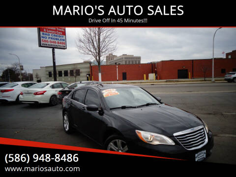 2013 Chrysler 200 for sale at MARIO'S AUTO SALES in Mount Clemens MI