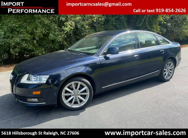 2009 Audi A6 for sale at Import Performance Sales in Raleigh NC