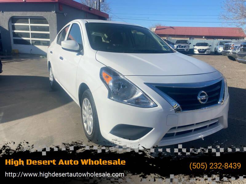 2019 Nissan Versa for sale at High Desert Auto Wholesale in Albuquerque NM
