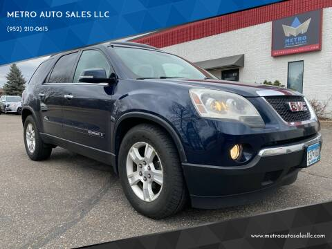 2007 GMC Acadia for sale at METRO AUTO SALES LLC in Blaine MN