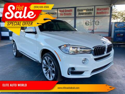 2015 BMW X5 for sale at ELITE AUTO WORLD in Fort Lauderdale FL