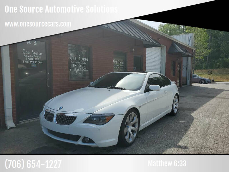 2007 BMW 6 Series for sale at One Source Automotive Solutions in Braselton GA