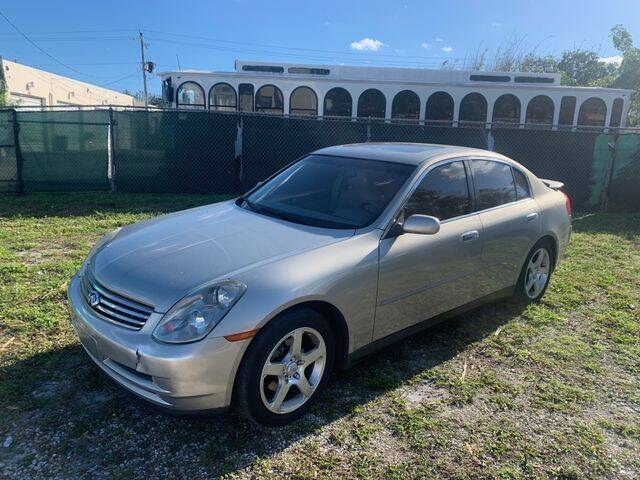 2003 Infiniti G35 for sale at POWERLINE AUTO CENTER in Fort Lauderdale FL