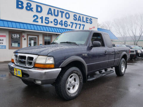 2000 Ford Ranger for sale at B & D Auto Sales Inc. in Fairless Hills PA
