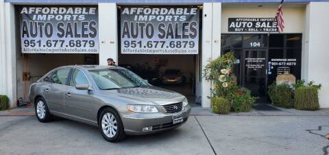 2009 Hyundai Azera for sale at Affordable Imports Auto Sales in Murrieta CA